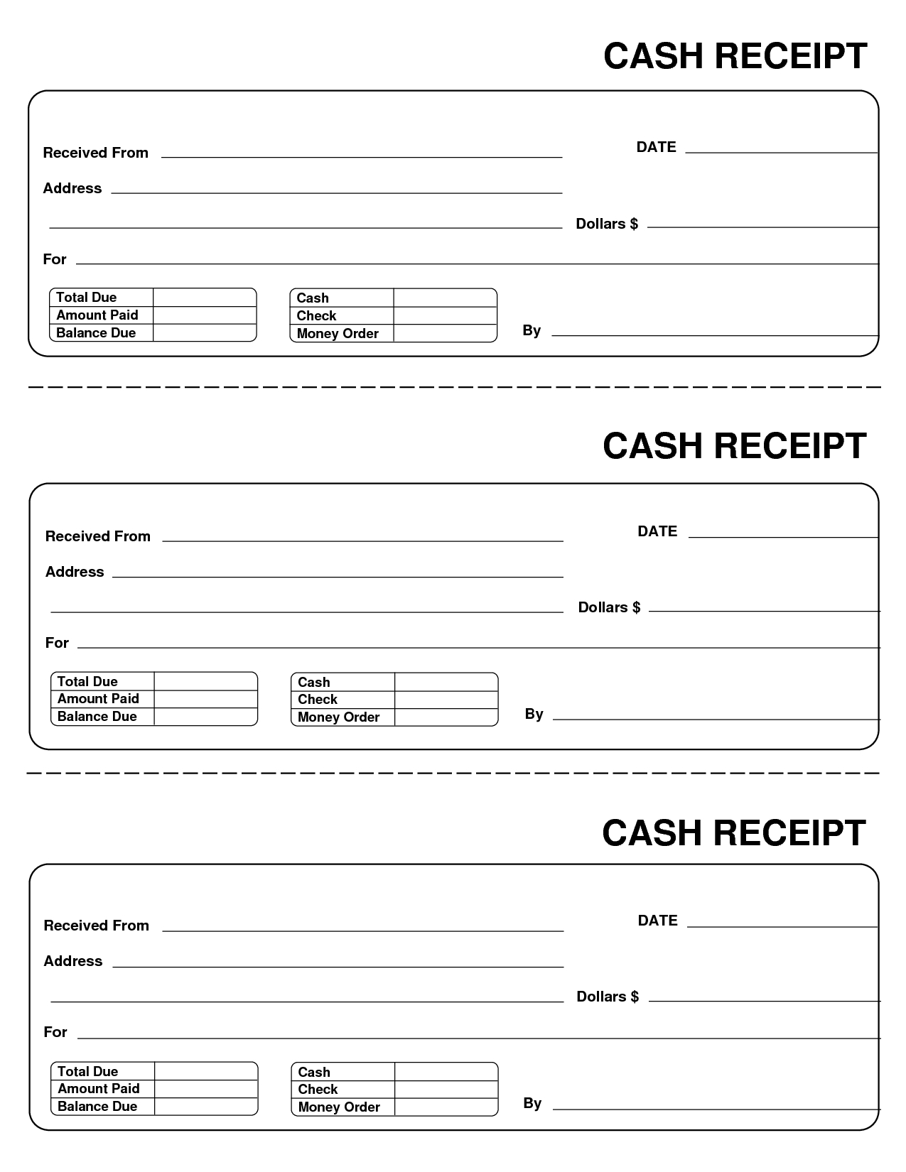 gallery for blank receipt template word cash invoice template