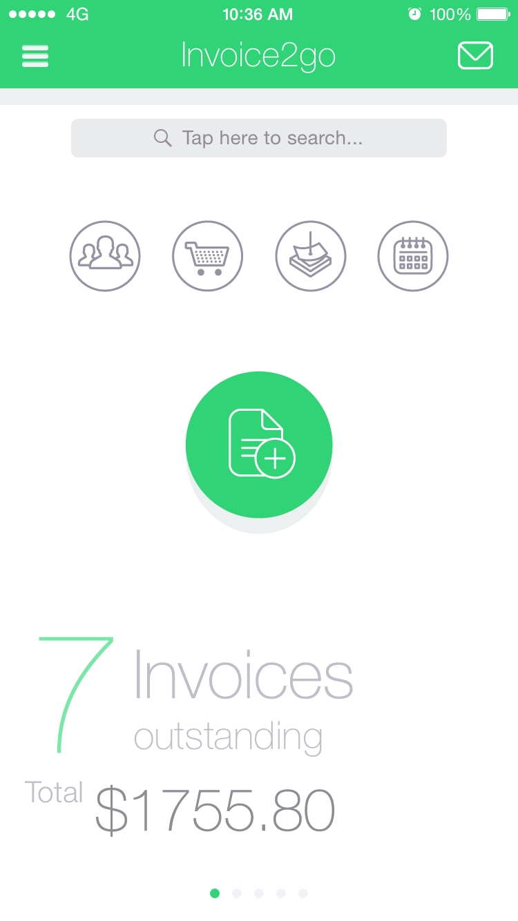 invoice2go mobile app the best mobile app awards invoice to go app