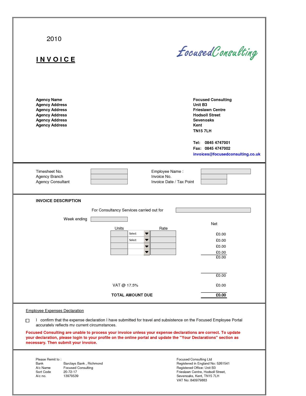 Consulting Invoice Example Invoice Template Ideas - Consultant invoice template