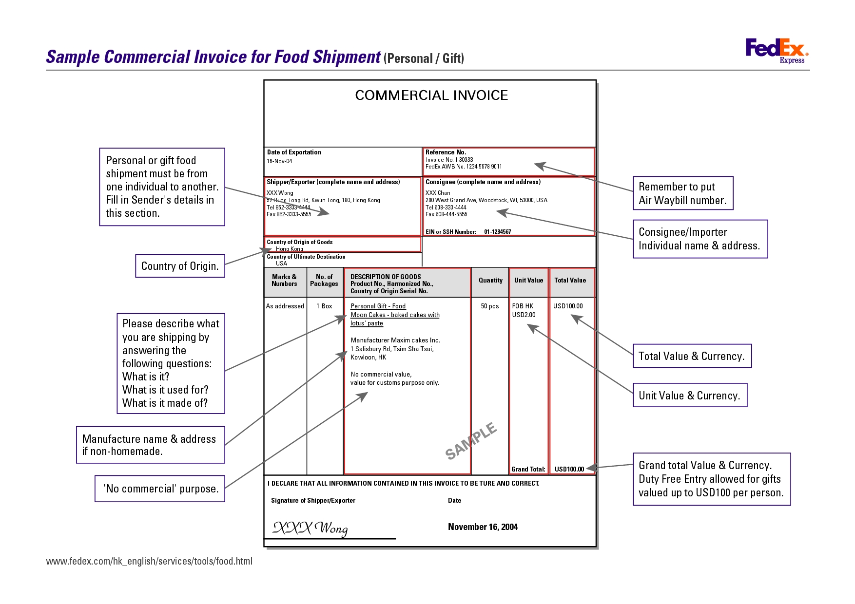 sample of commercial invoice – Commercial Invoice Forms