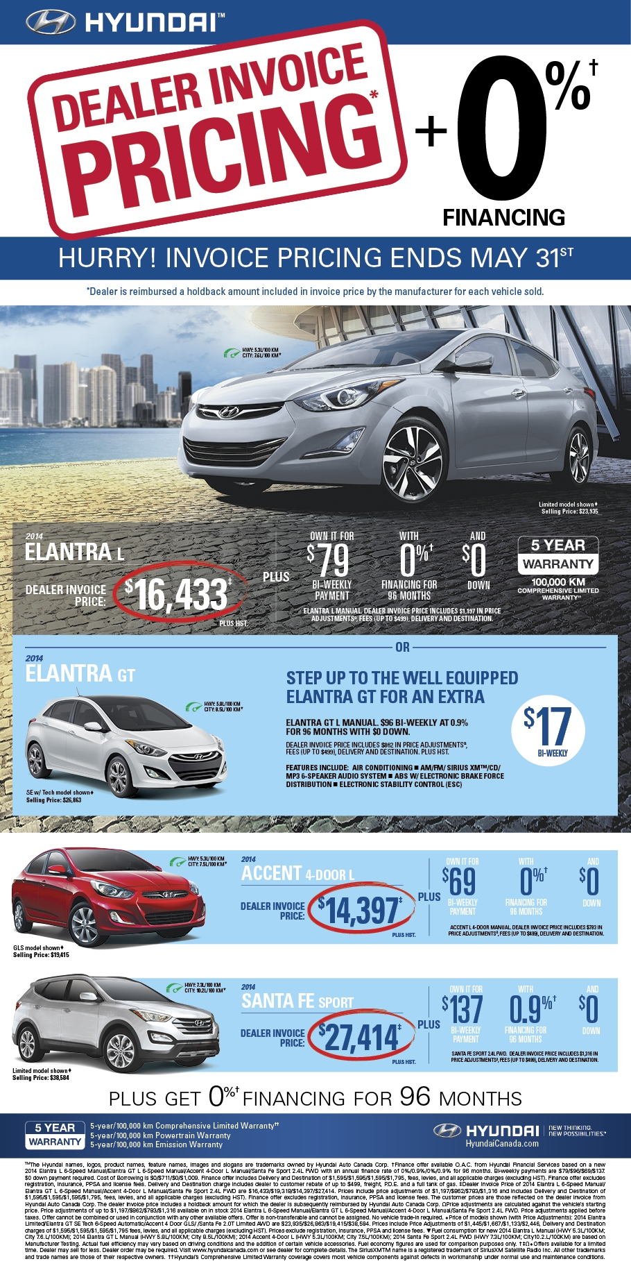 agincourt hyundai dealer invoice pricing event may 2014 hyundai invoice prices