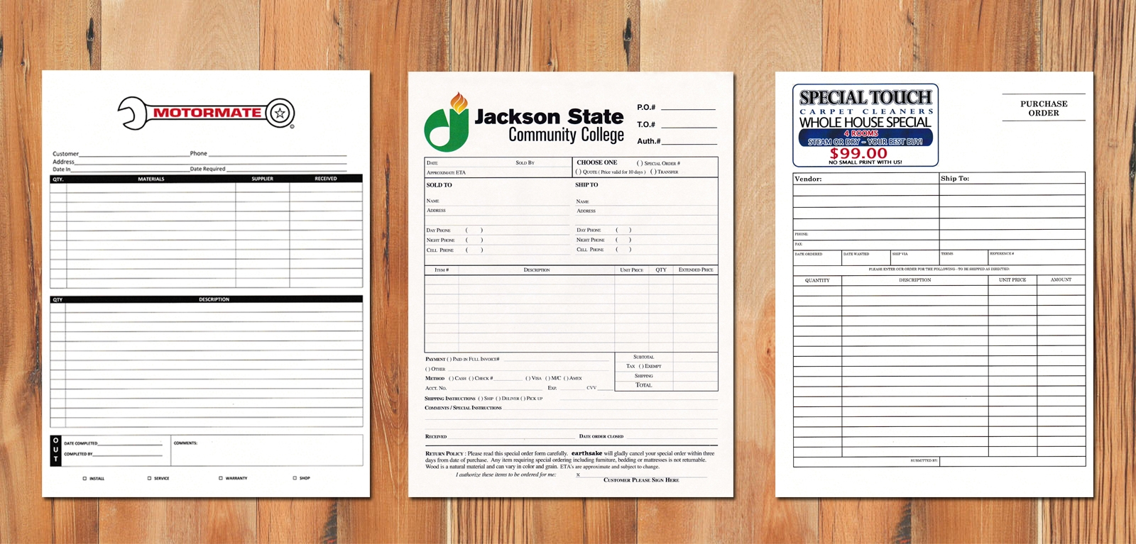 custom carbonless invoices 3 part forms cabonless 1600 X 767