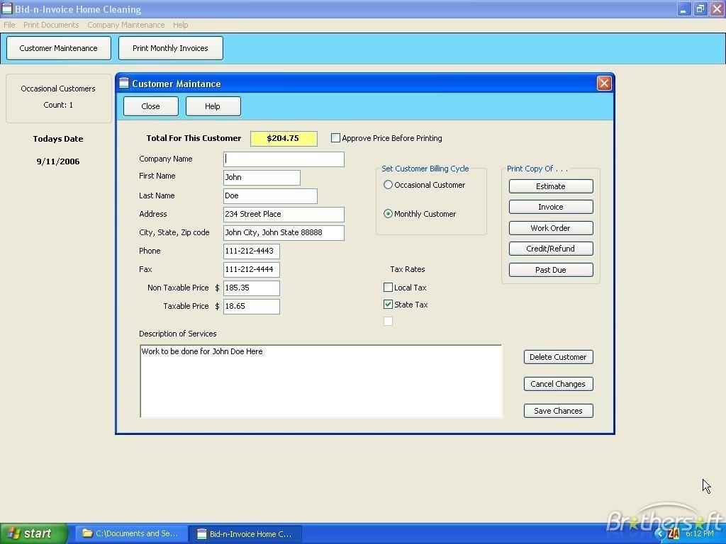 download free bid n invoice home cleaning bid n invoice home program for invoices