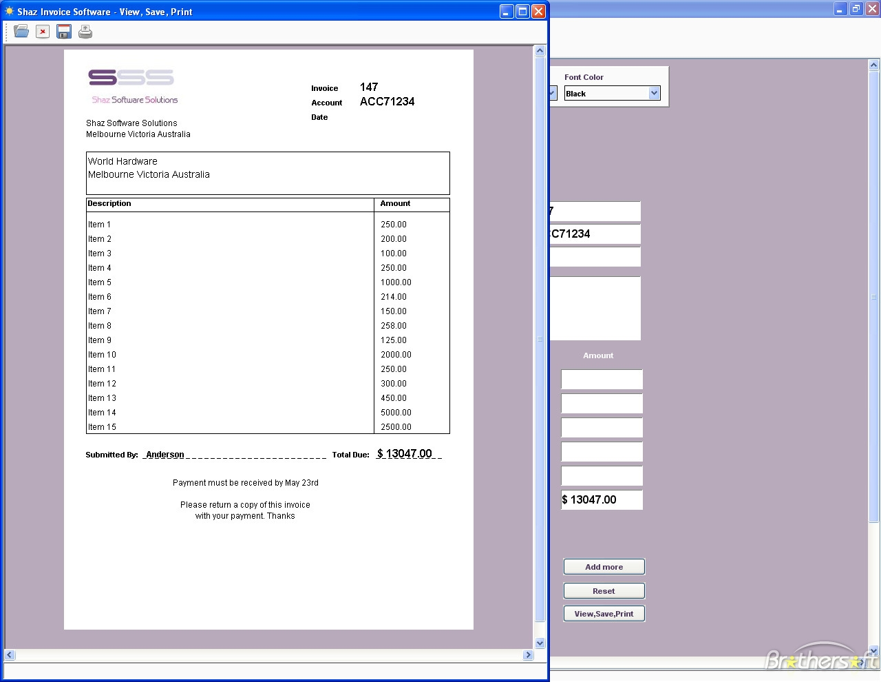 download free shaz invoice software shaz invoice software 100 program for invoices