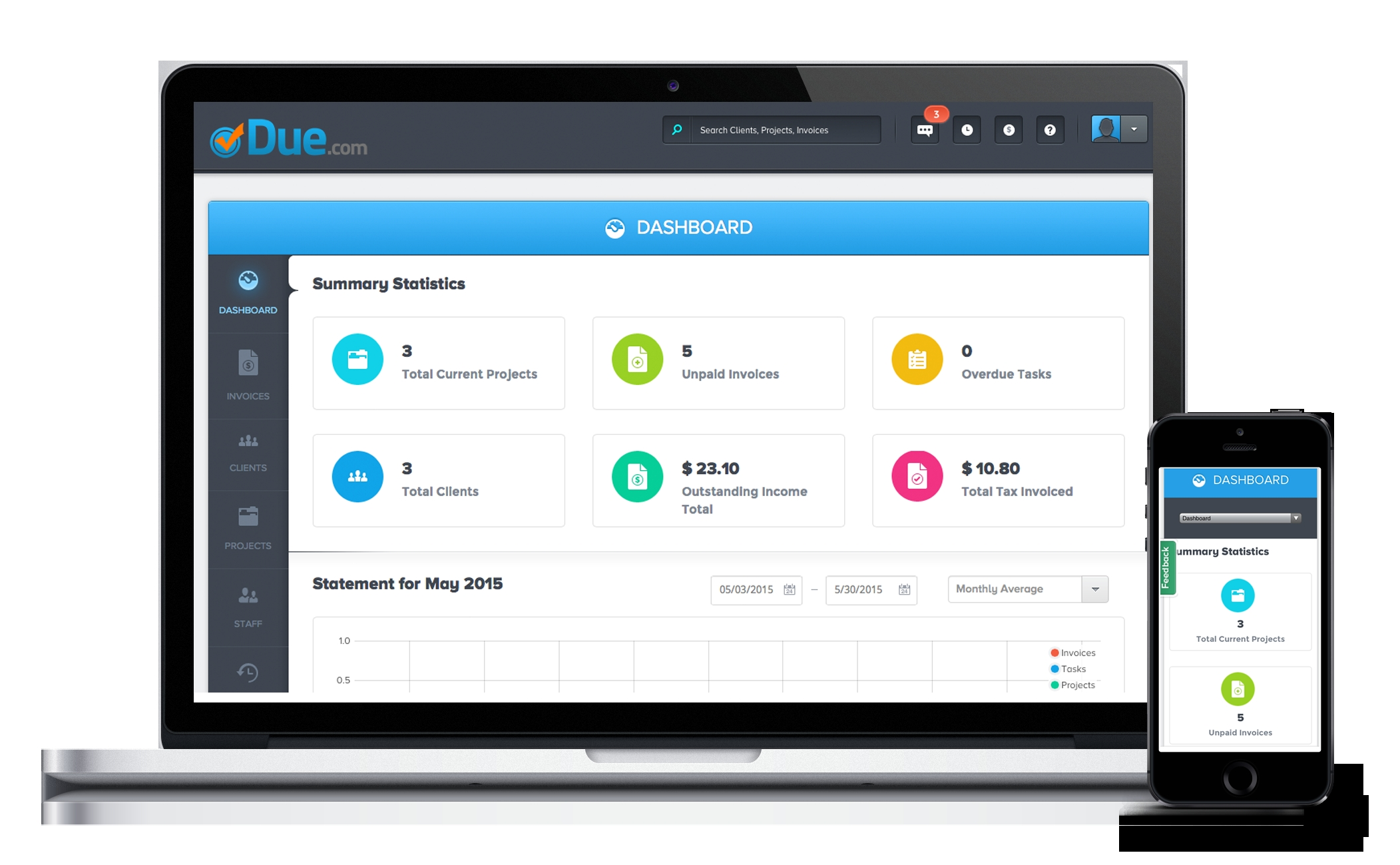 due easy to use time tracking for small business time tracking invoice