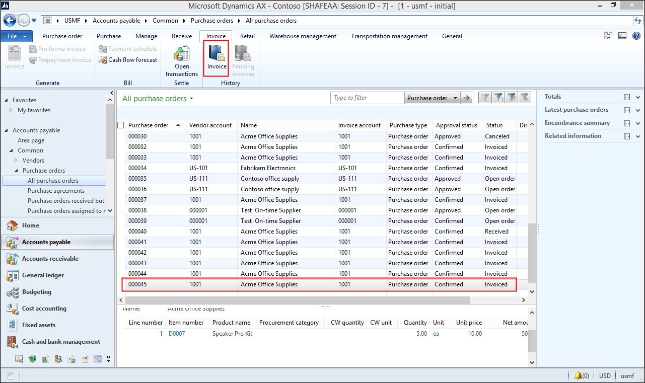 dynamics ax tips ax 2012 moving average costing method part 1 purchase order and invoice difference