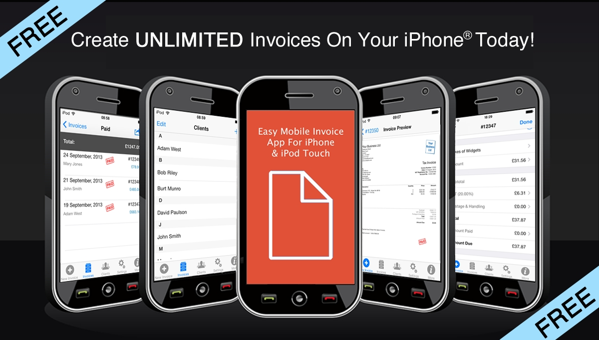 easy mobile invoice app for iphone easy mobile apps easy invoice app
