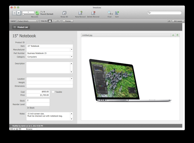 estimates and invoices filemaker pro 12 starter solution the filemaker pro invoice template