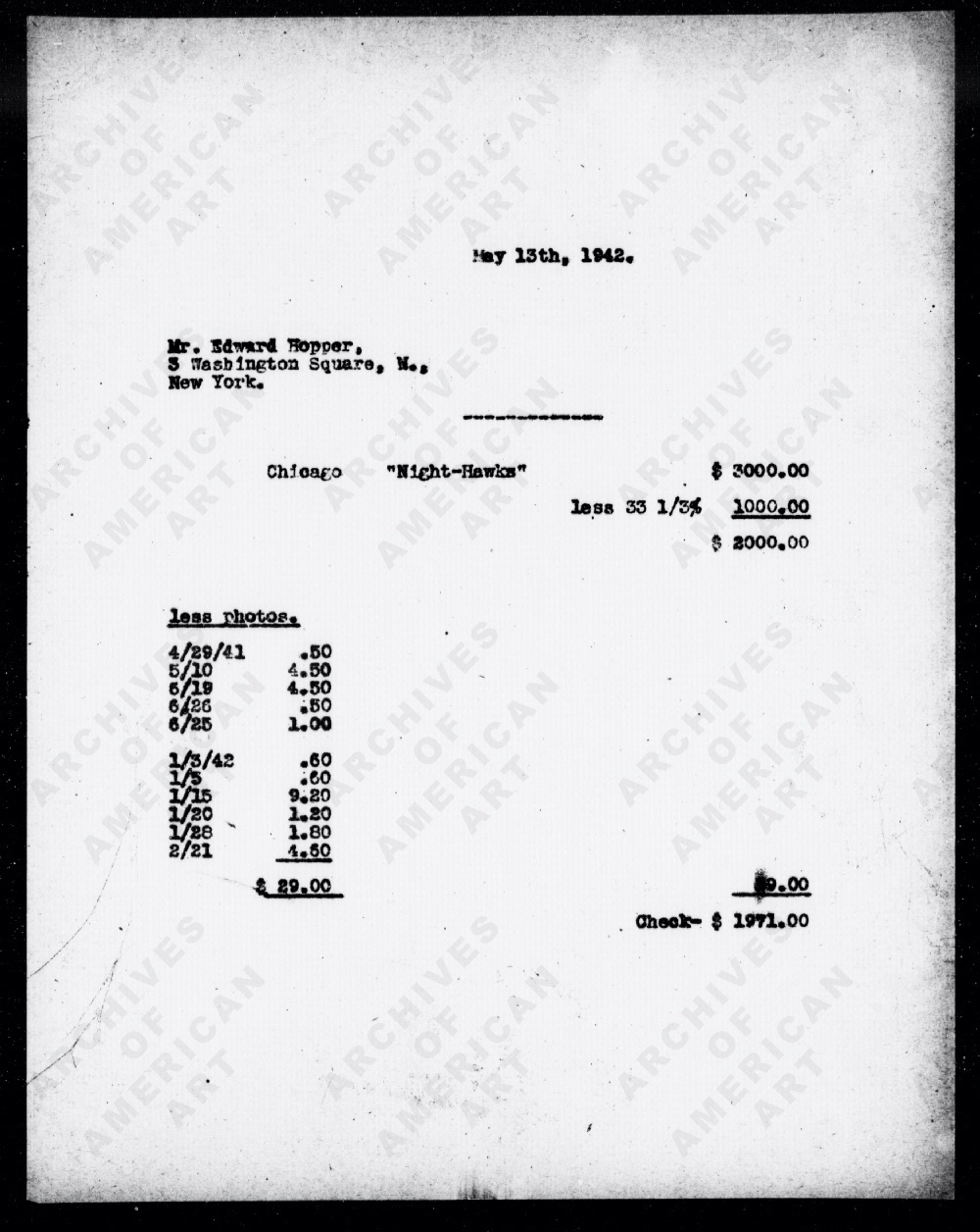 filenighthawks invoice ed hopper 1942 wikimedia commons type of invoice