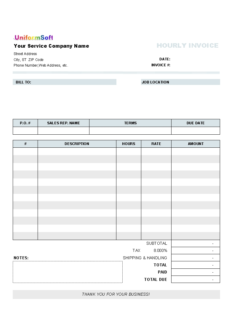 form of invoice blank invoice form 2016 wwwmahtaweb 790 X 1115