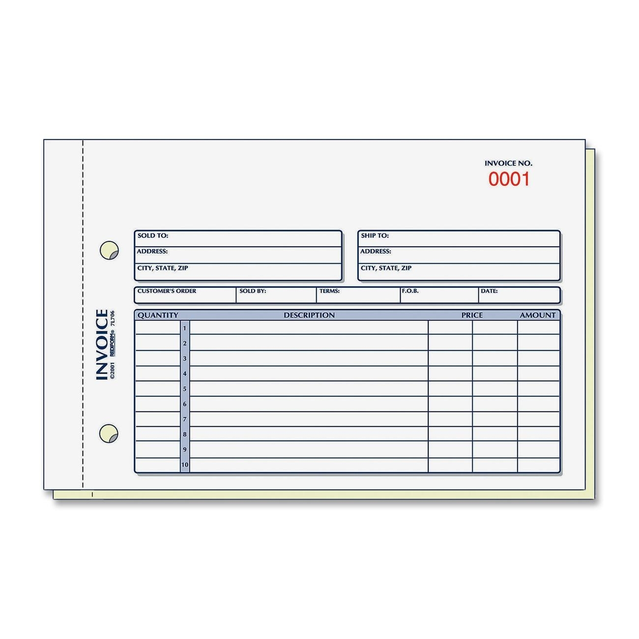 form of invoice discount red7l721 rediform 7l721 rediform invoice form invoice book 1300 X 1300