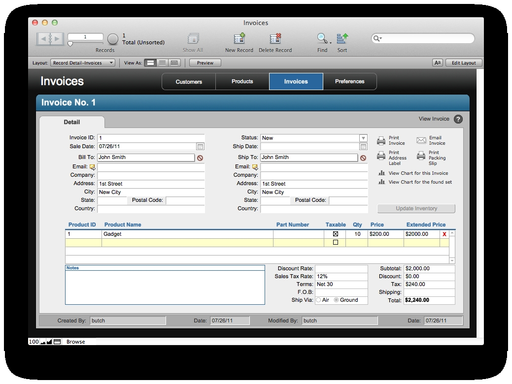 free filemaker solution invoices the mac office filemaker pro invoice template