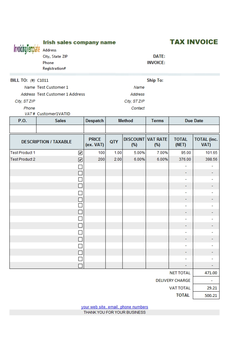free template for invoice for services rendered 3 results found non vat invoice template