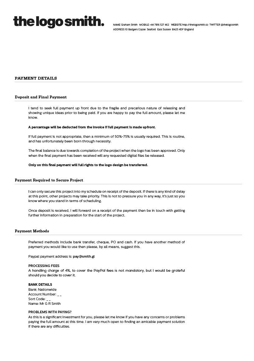 freelance logo design proposal and invoice template for download proposal invoice template