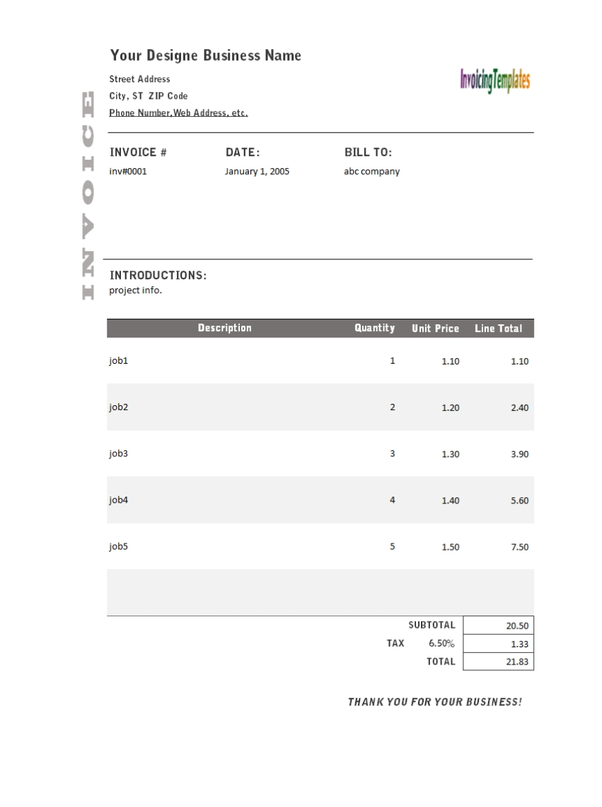 freelance web design invoice template 8 results found uniform web design invoice