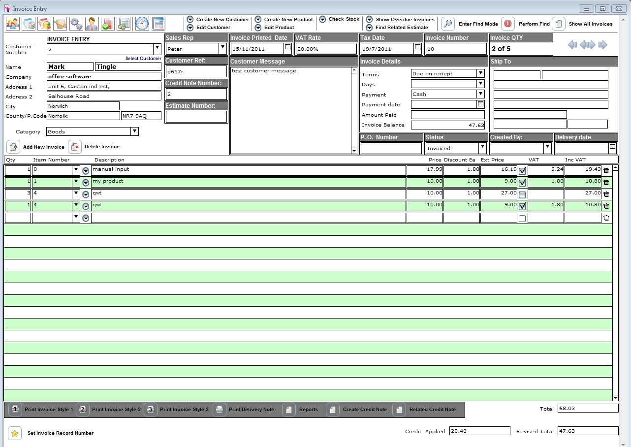 garage invoice software garage invoicing software 1282 X 908