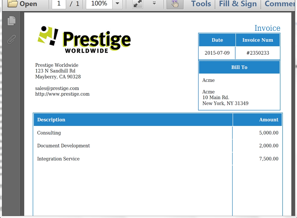 generate an invoice from an opportunity won in salesforce webmerge type of invoice