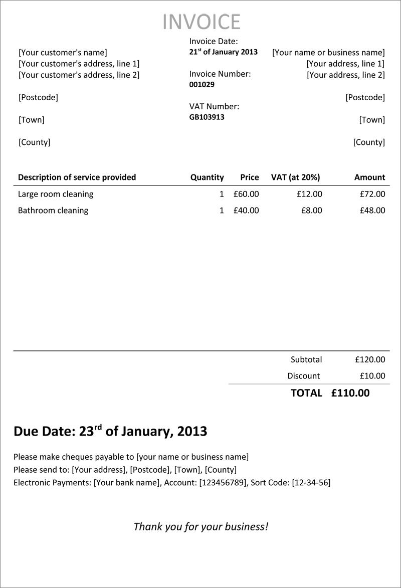 goingfreelance invoice template1 self bill invoice