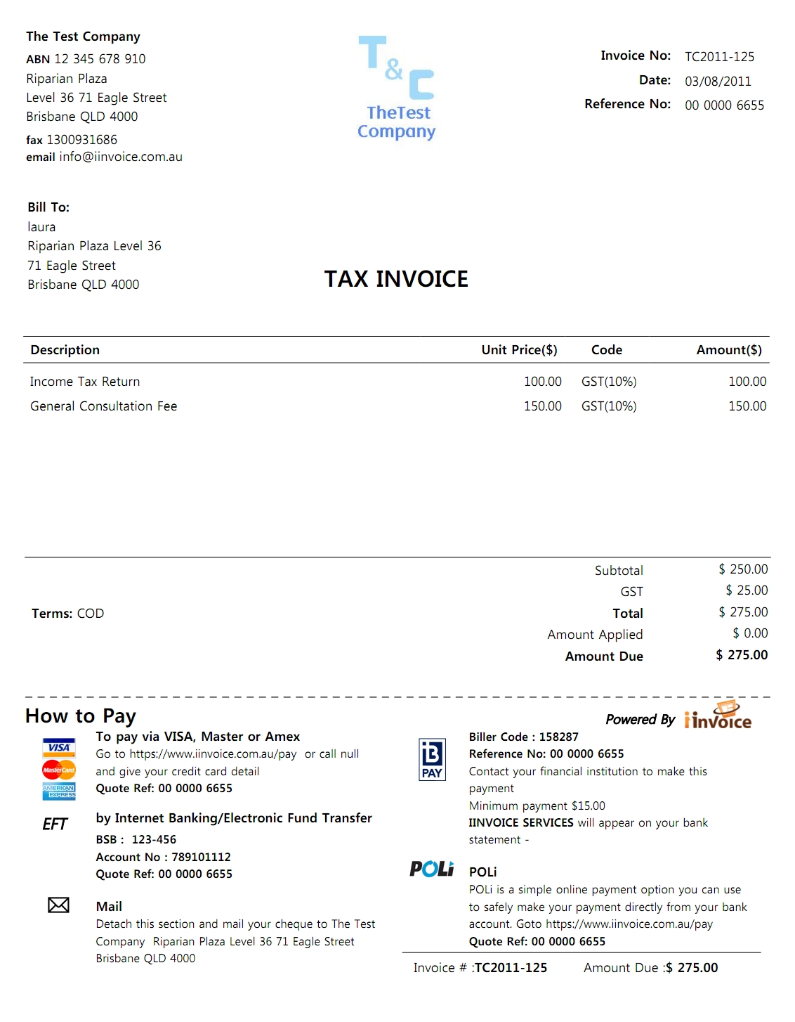 credit card invoice template * invoice template ideas, Invoice templates