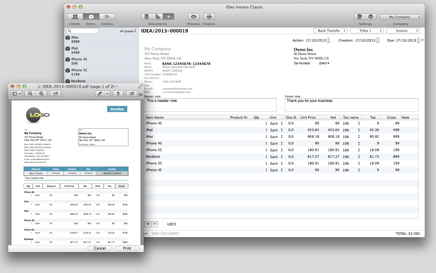 invoice generator mac idea invoice apple mac os x 1440 X 900