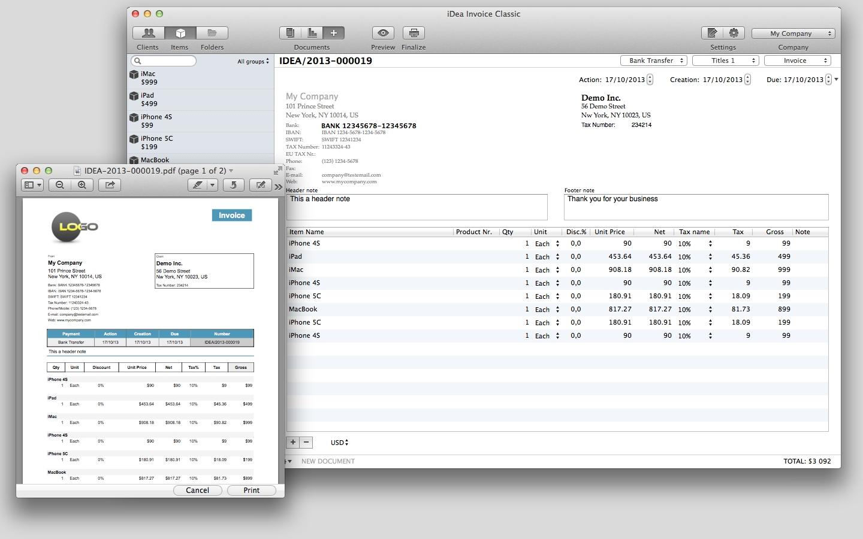 Invoice Generator Mac