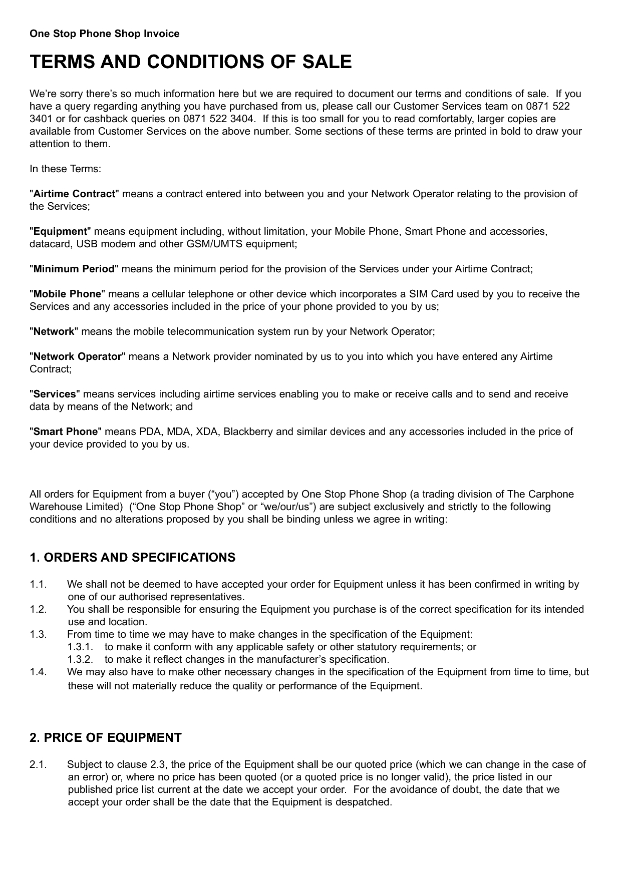 invoice terms and conditions sample invoice terms and conditions template 1240 X 1754