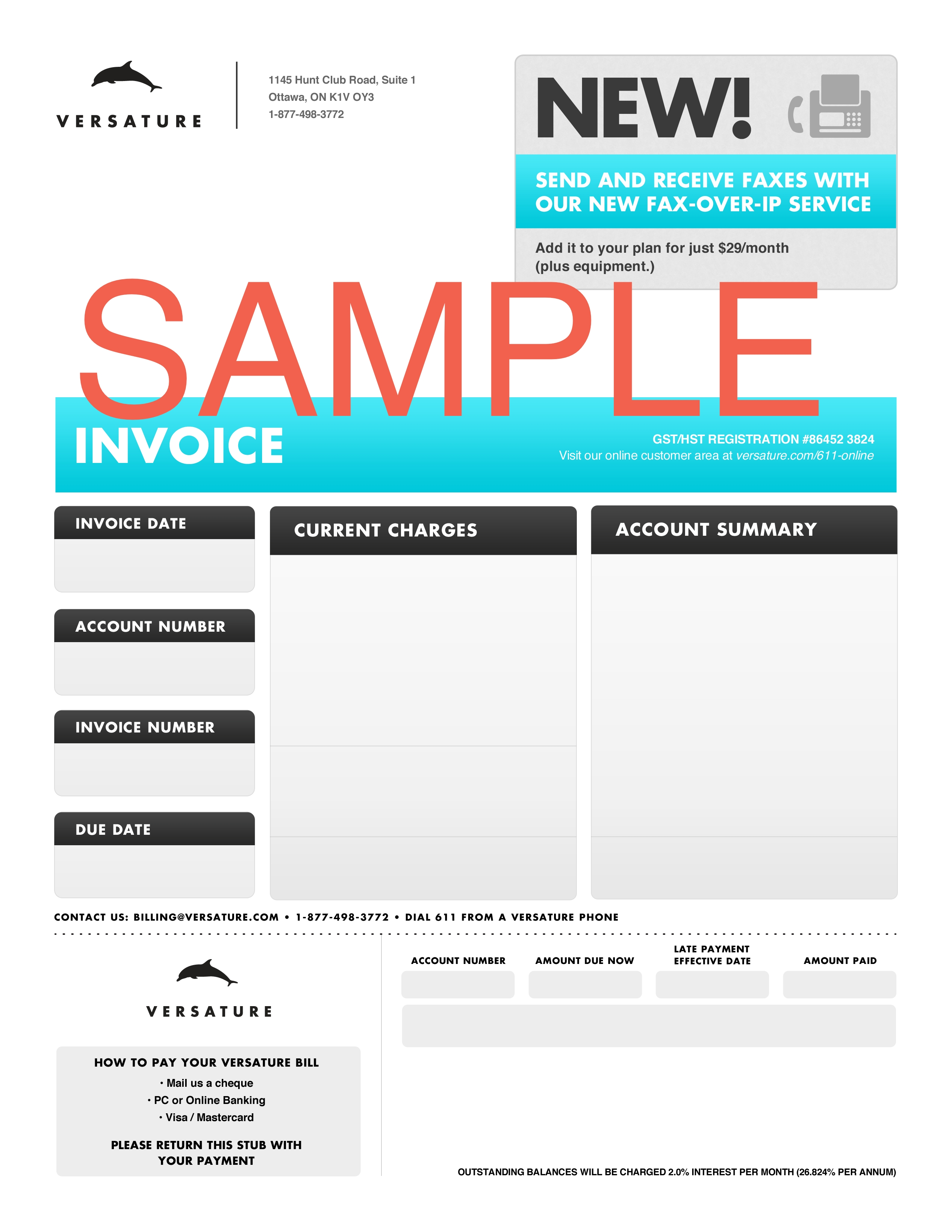invoicesample modern invoice template