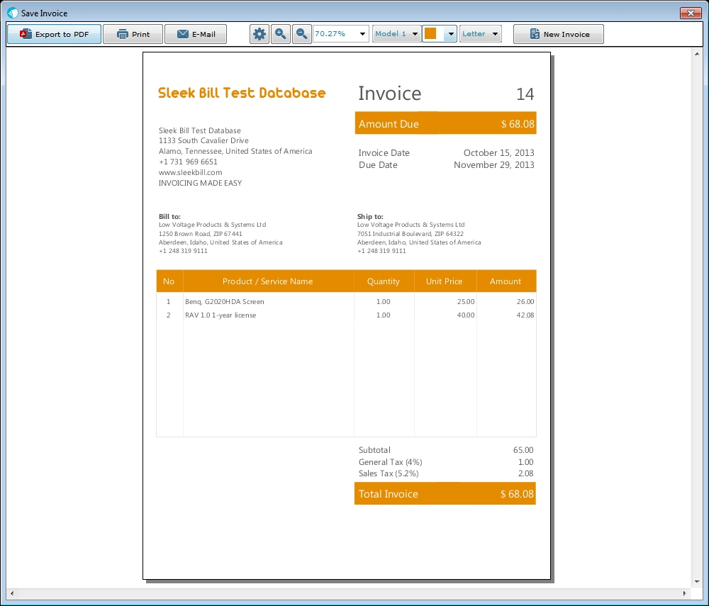 mac invoice software that you39ll love sleek bill for mac best invoice software for mac