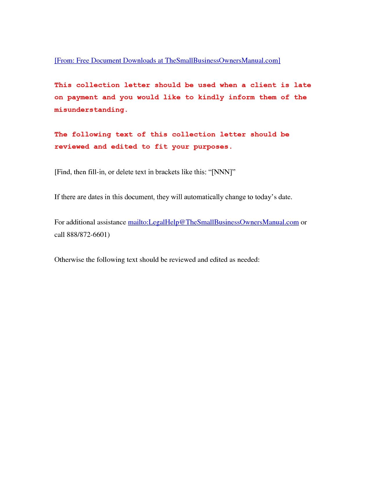 Unpaid Invoice Letter