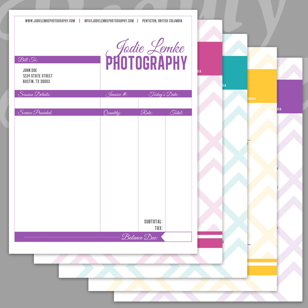 popular items for photography invoice on etsy photography invoice template free
