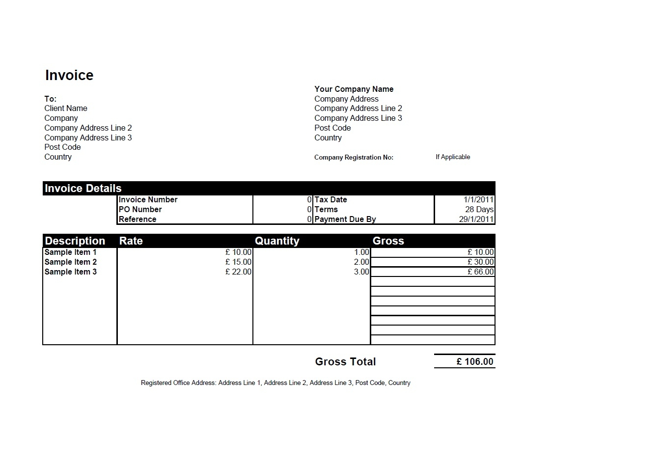 sample invoice in excel free invoice templates for word excel open office invoiceberry 1346 X 951