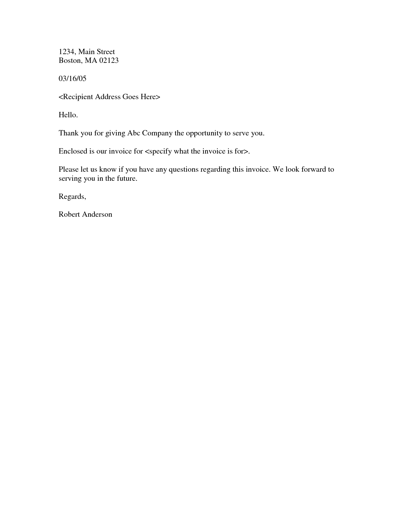 ... Sample Letter With Invoice Sample Business Letter Invoice Cover Letter  Invoice Smaple