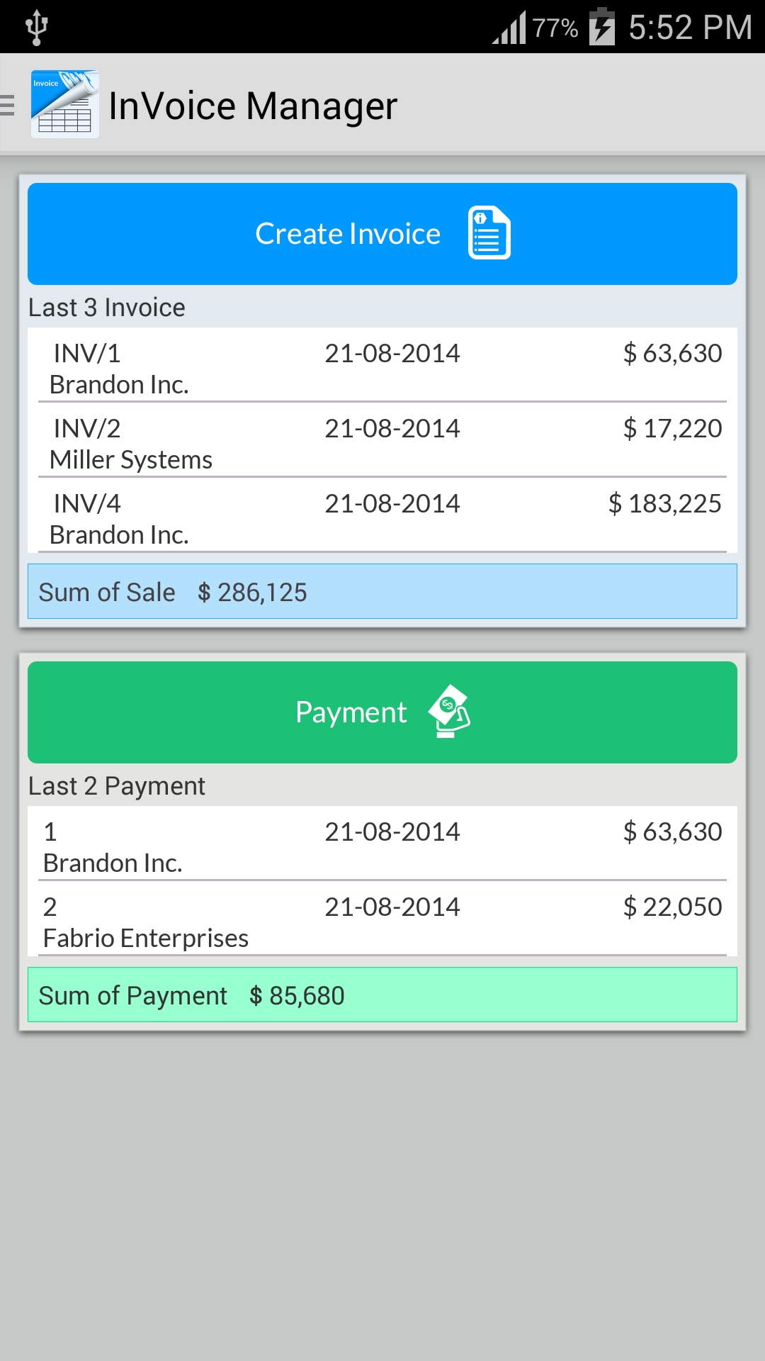 simple invoice manager apk download free business app for invoice app for android