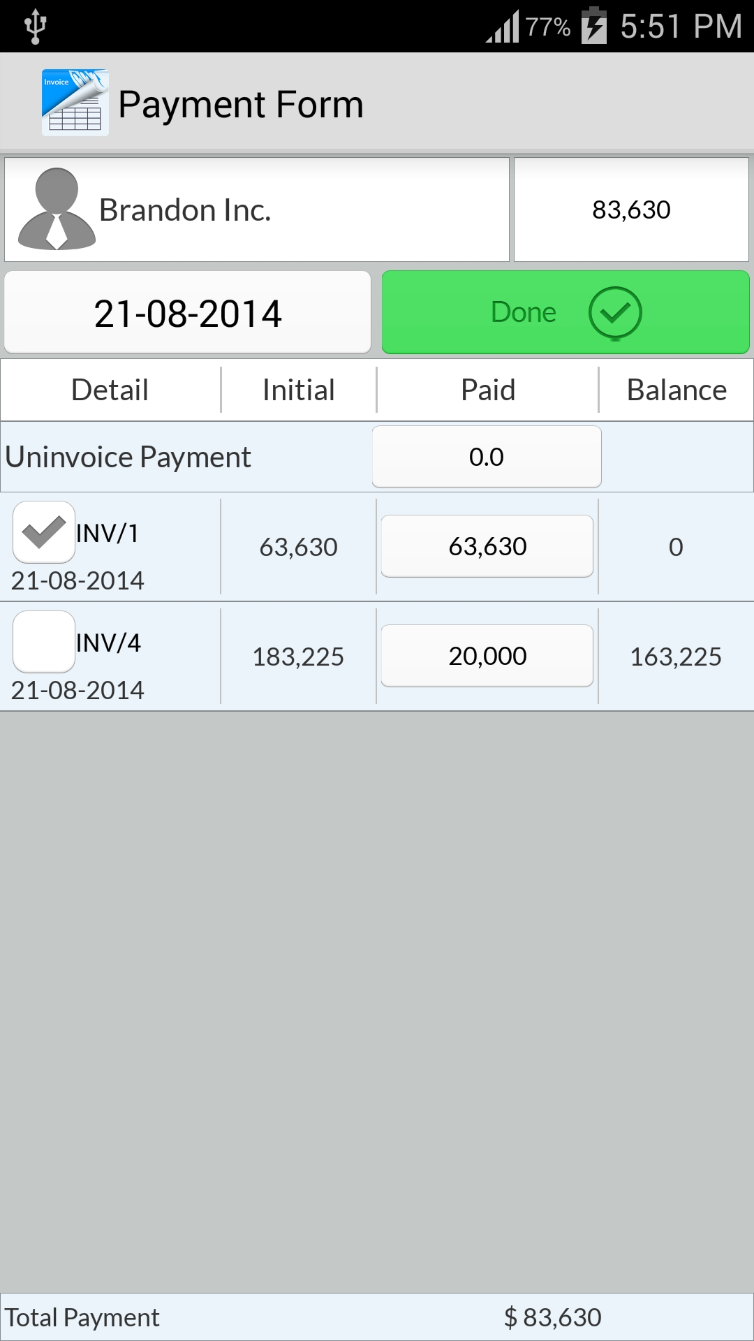 Invoice App For Android