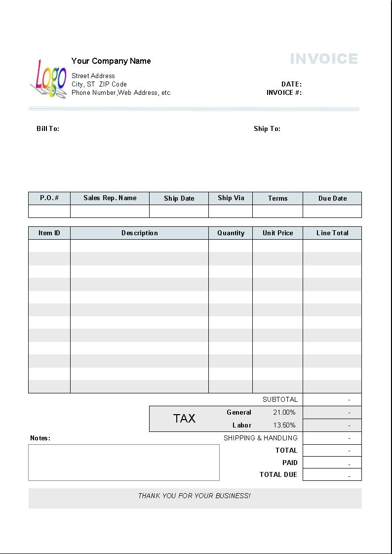 uniform invoice software uniform software tax invoice template free