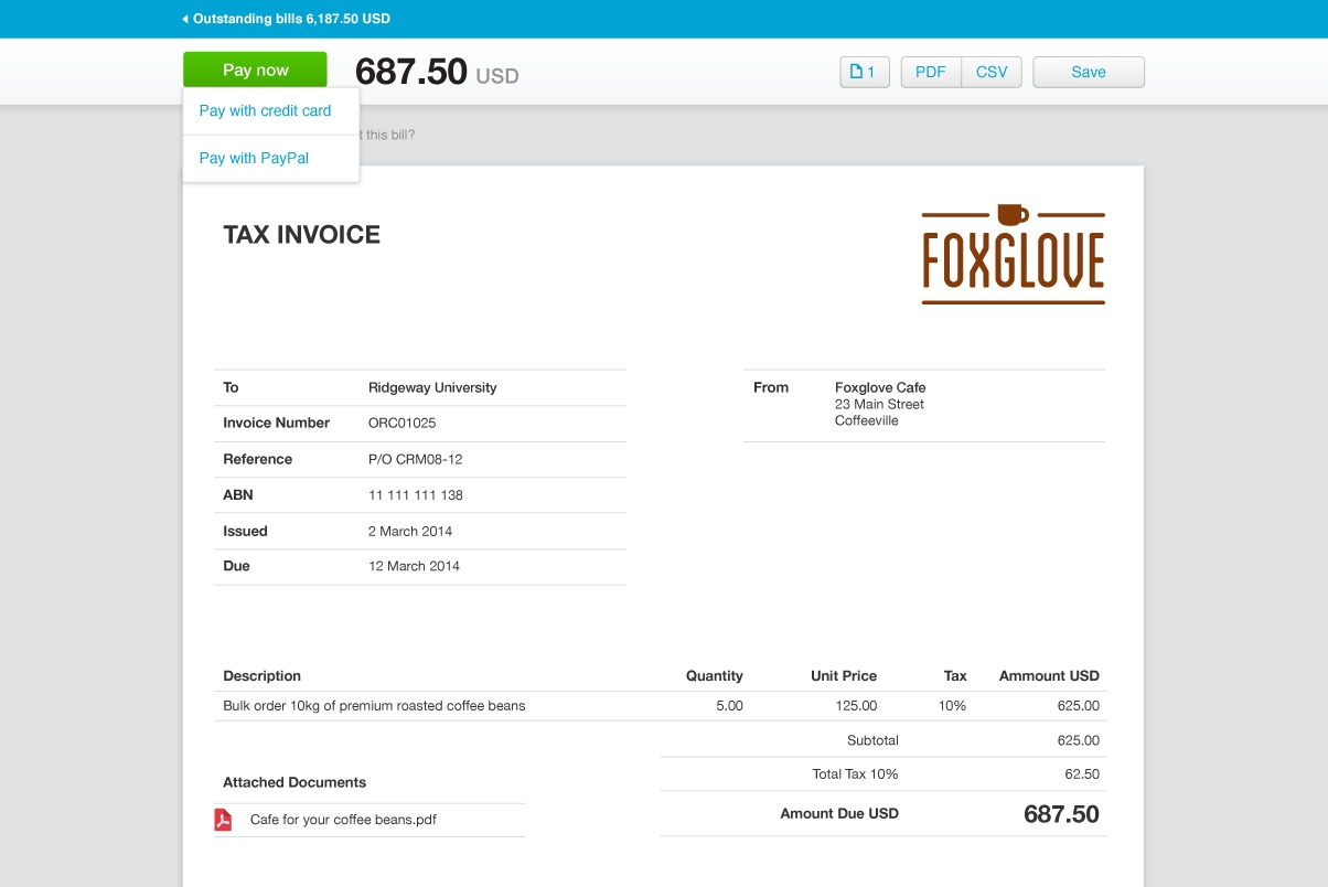 xero invoice templates invoicing software xero 1204 X 804