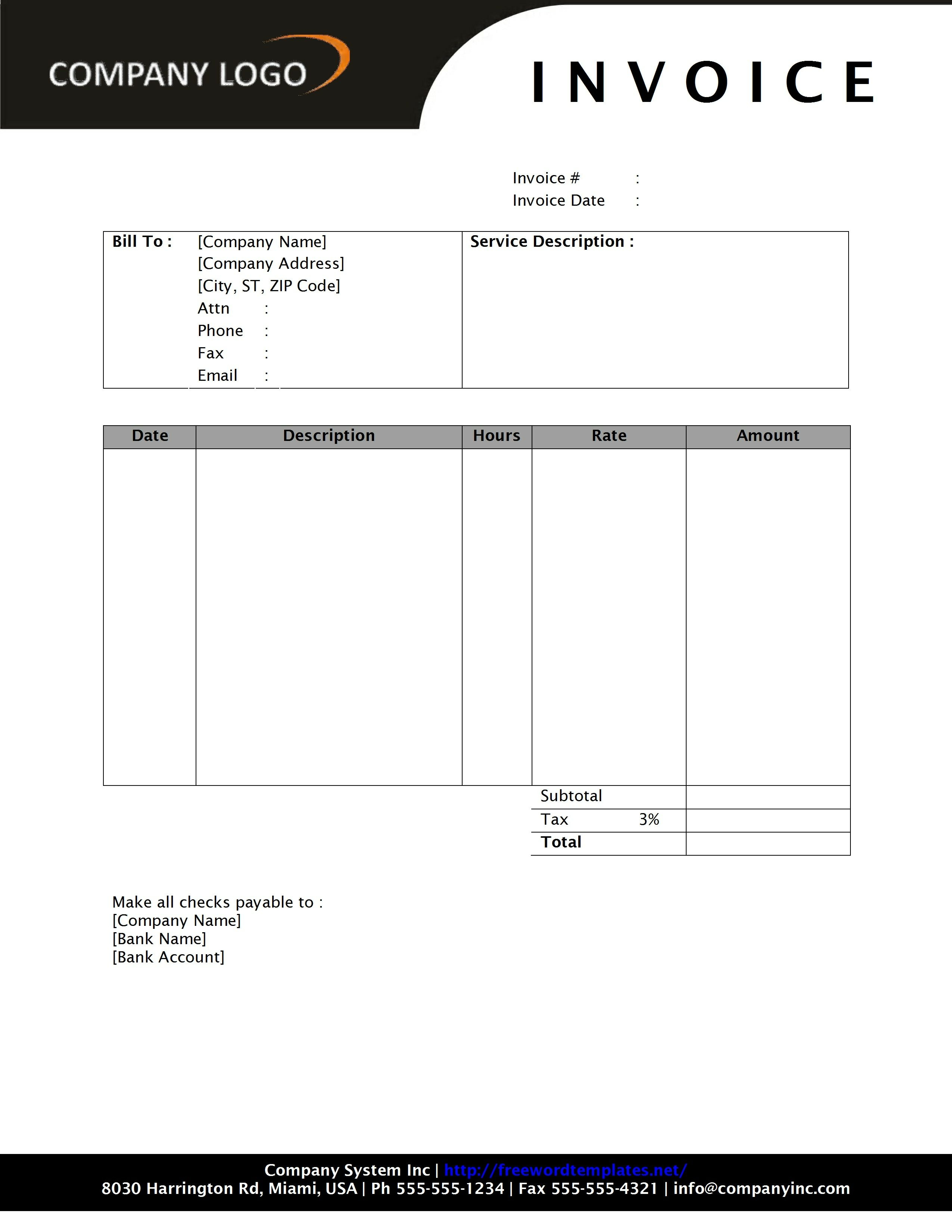 18 best photos of template of invoice in word invoice template microsoft word invoice template free download