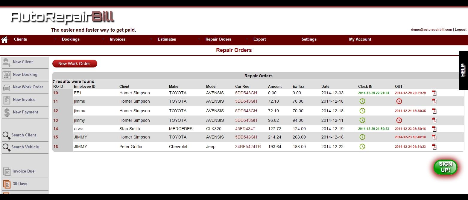 automotive invoice software auto repair invoice software for automotive invoice software