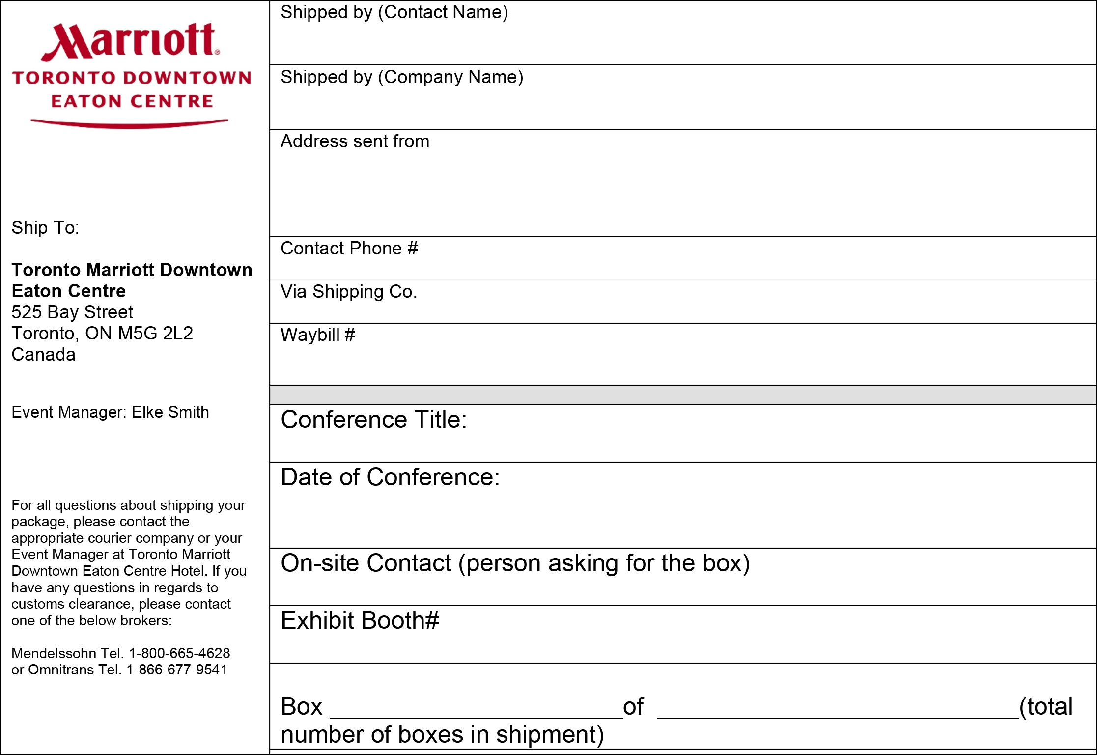 canadian customs invoice instructions shipping information total rewards 2014 canadian conference 2233 X 1537