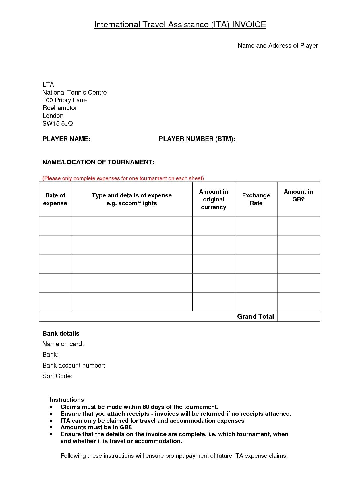 car travels bill | dromffo.top travel invoice template