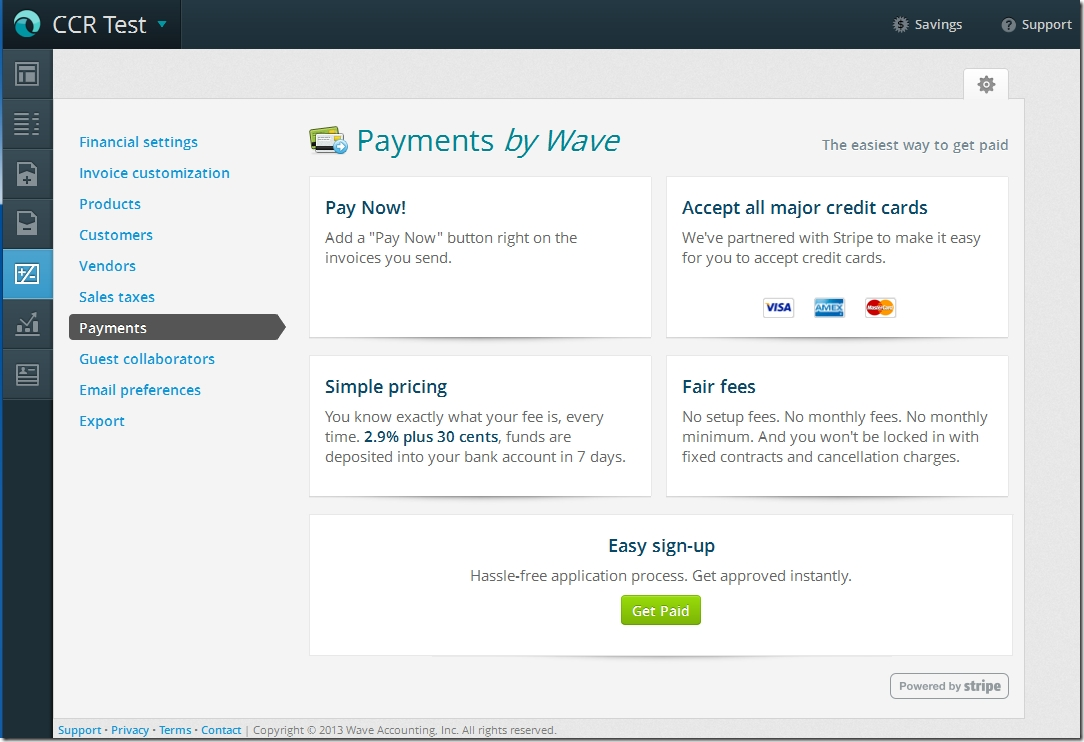 Wave Accounting Invoice