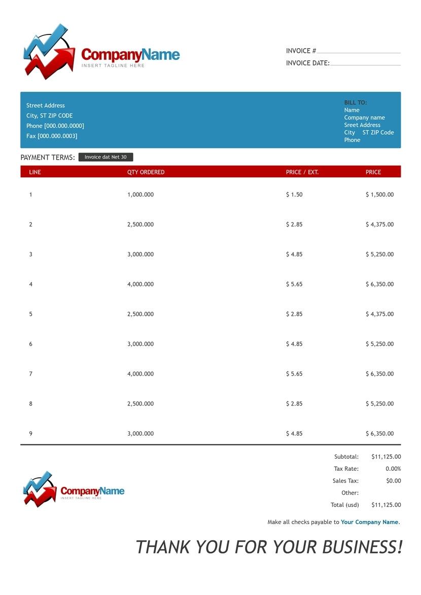 custom invoice template invoice template free 2016 free custom invoice template
