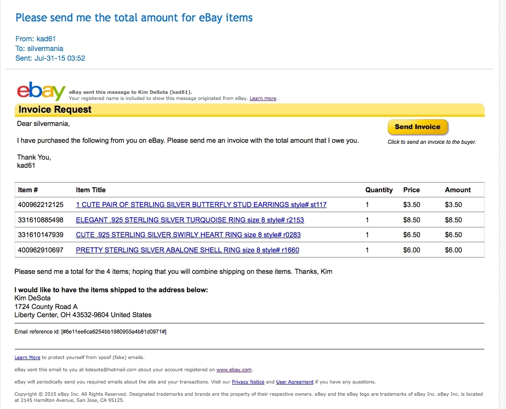 ebay buyer invoice invoice template free 2016 sending an invoice on ebay
