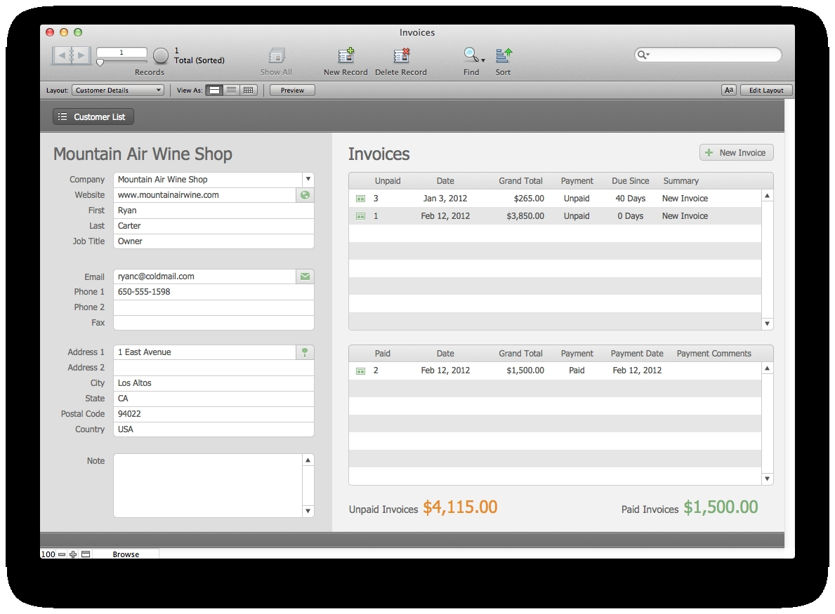 estimates and invoices filemaker pro 12 starter solution the invoices and estimates pro