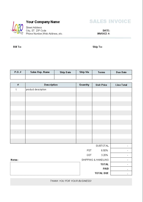 fill in invoice template fill in invoice template 10 results found uniform invoice software 792 X 1119