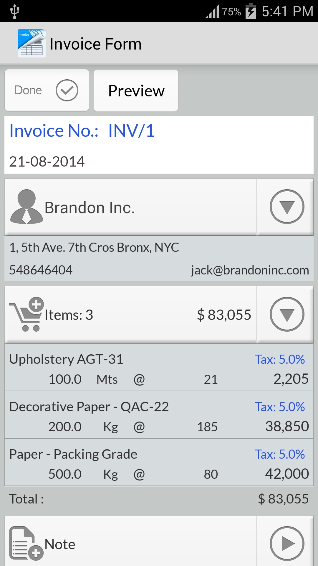 invoice app android invoice template ideas. Black Bedroom Furniture Sets. Home Design Ideas