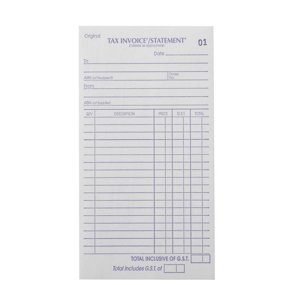 invoice books officeworks carbon invoice pads