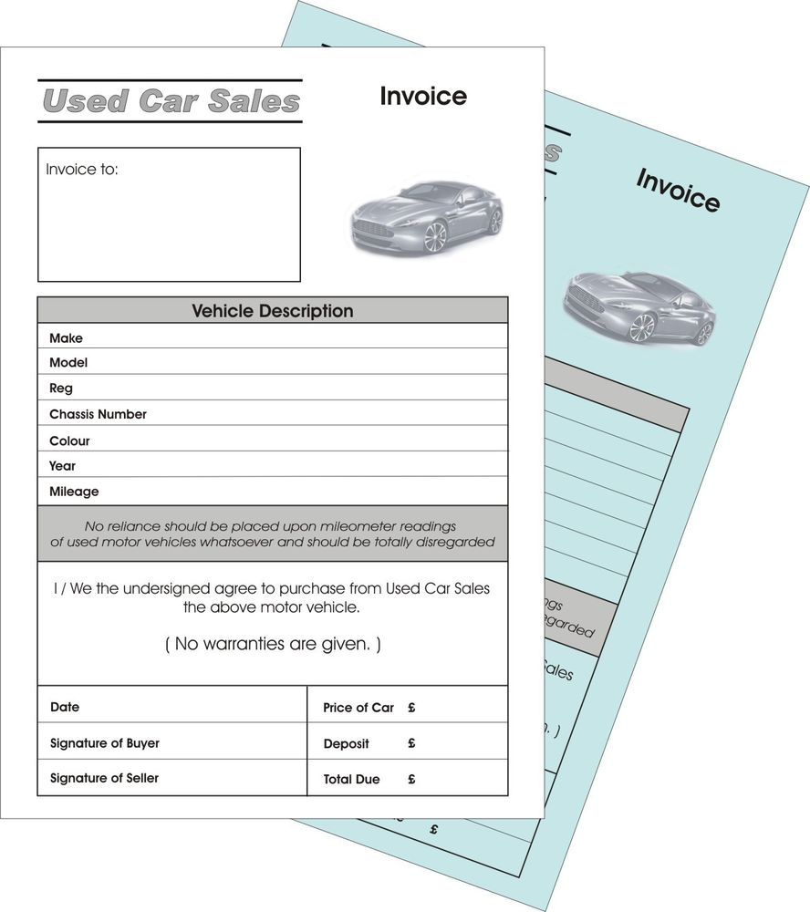 invoice for car sale car sales invoice business office amp industrial ebay 888 X 1000