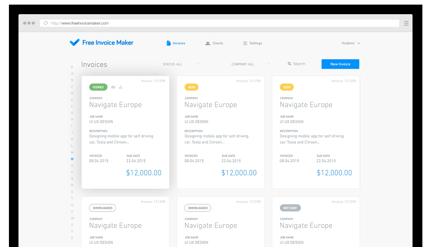 online invoice maker   invoice template ideas