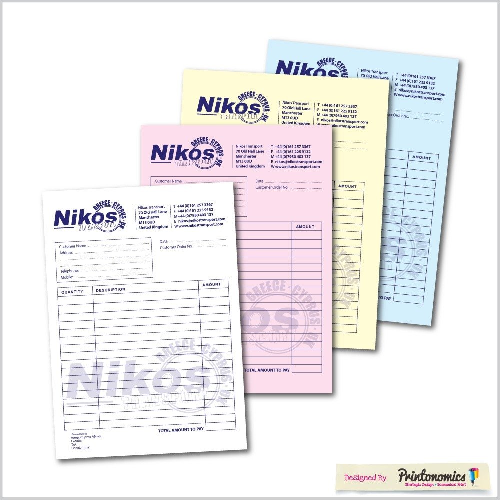 invoice pads ncr 4 parts carbon invoice pads
